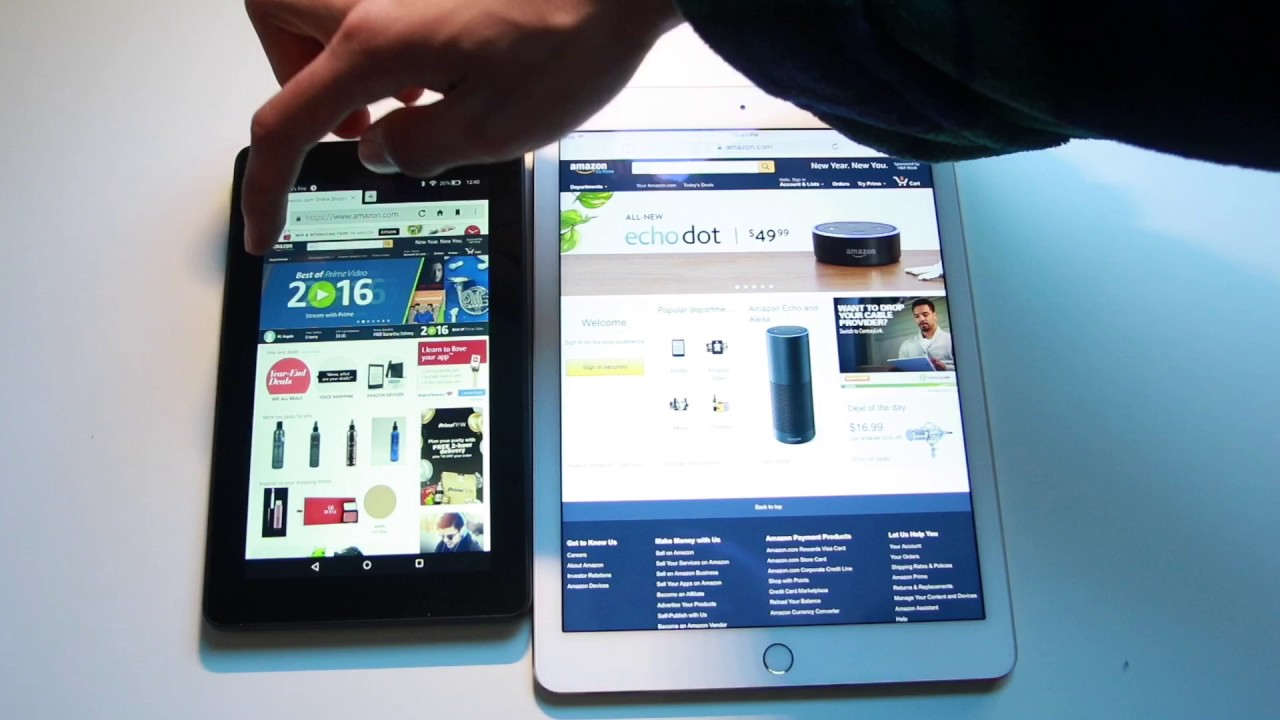 Apple Ipad Vs Kindle: Apple IPad Air 2 Vs The Amazon Kindle Fire 7""