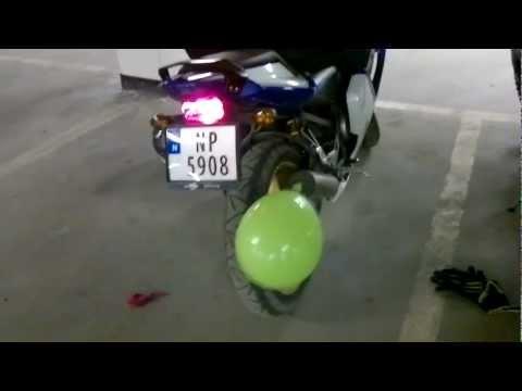 Balloon+moped= BOOM