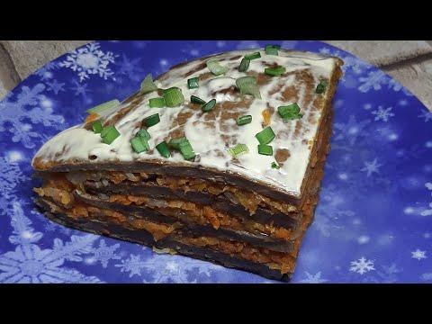 Печёночный торт (из куриной печени )