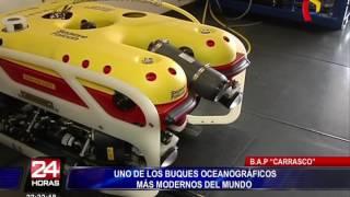 BAP Carrasco, uno de los buques oceanográficos más modernos del mundo