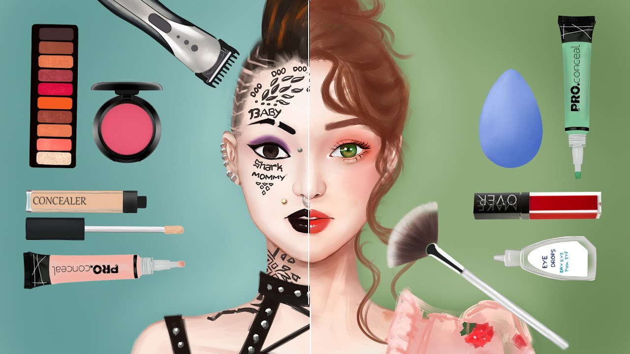 Makeup Animation DRASTIC BEAUTY MAKEOVER // Korean Beauty Makeup Stop Motion