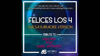 KARAOKE - Felices Los 4 (Salsa Version) Maluma Ft. Marc Anthony
