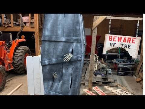 How to make a CREEPY COFFIN- Great Halloween decoration