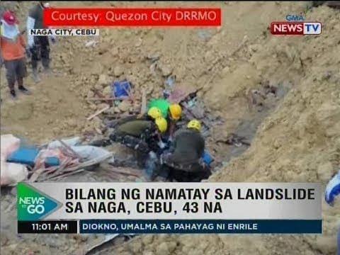 NTG: Bilang ng namatay sa landslide sa Naga, Cebu, 43 na
