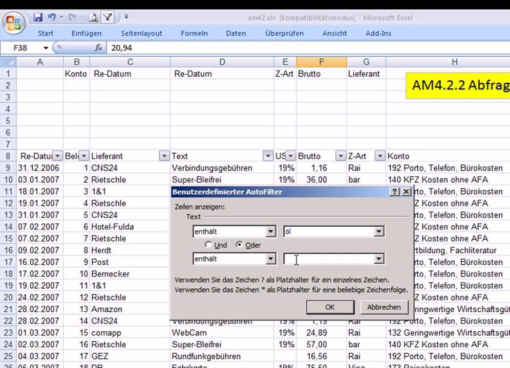 Excel Vergleich Mehrere Kriterien