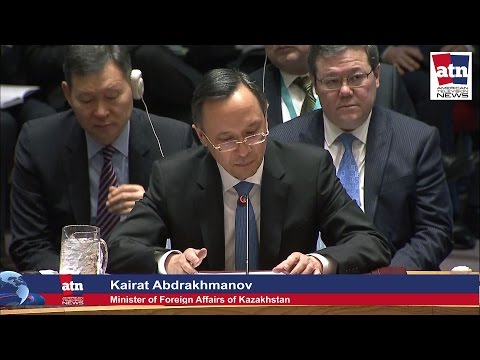 Kazakhstan Foreign Minister Kairat Abdrakhmanov at the Security Council Jan 10th, 2017