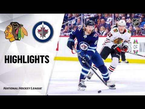 NHL Highlights | Blackhawks @ Jets 2/16/20
