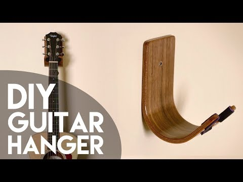 DIY Guitar Hanger // Bent Wood Lamination How To - Woodworking