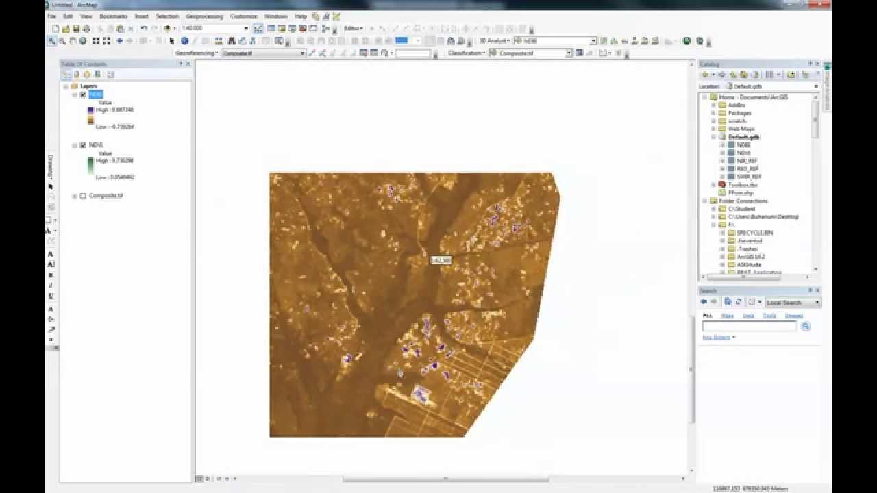Landsat 8 NDVI calculation using ArcGIS 10.2 raster calculator ...