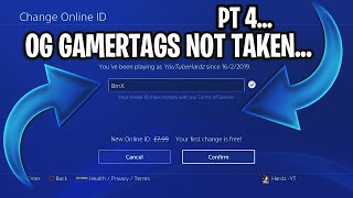 OG GAMERTAGS NOT TAKEN *2019* PART 4 - XBOX/PLAYSTATION