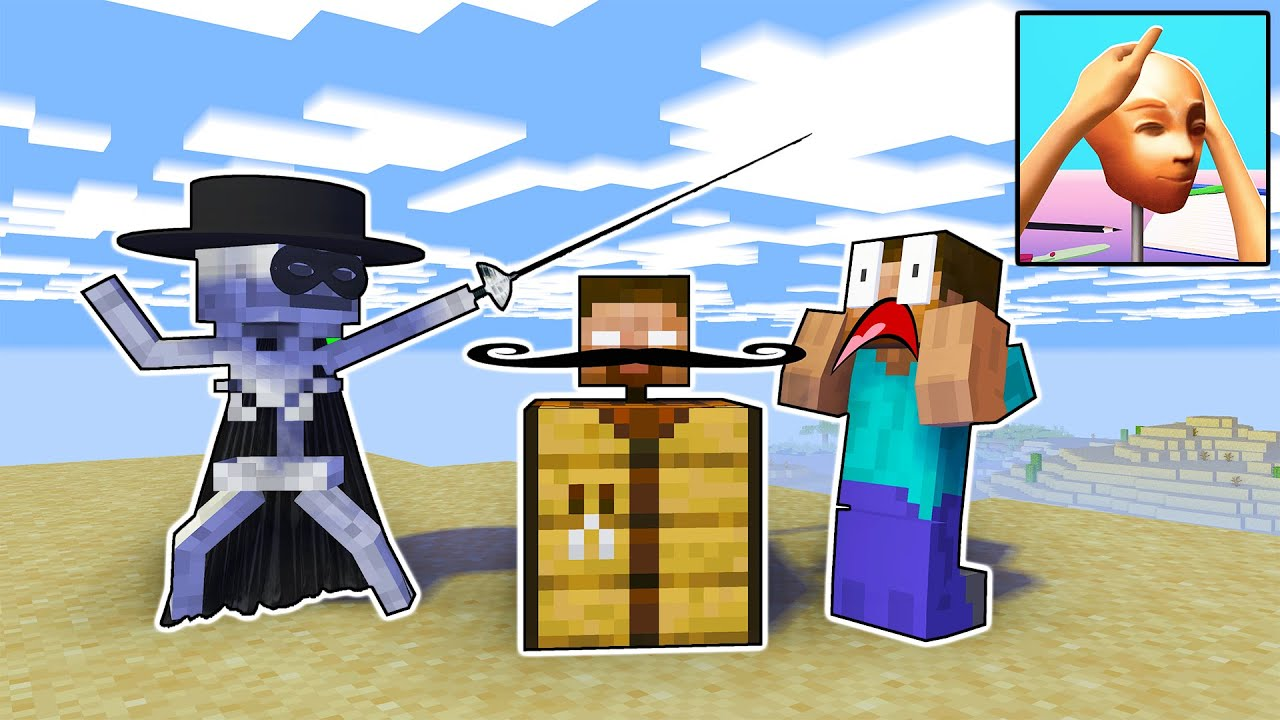 Monster School : Sculpt People Game Challenge - Horror Funny Minecraft Animation