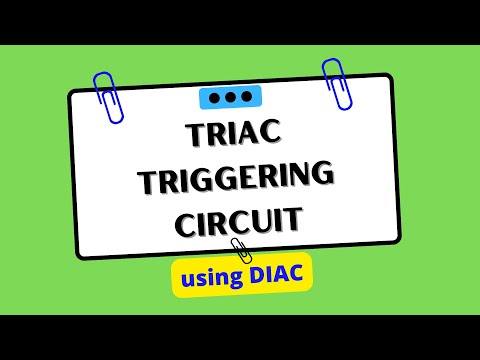 TRIAC triggering circuit using DIAC