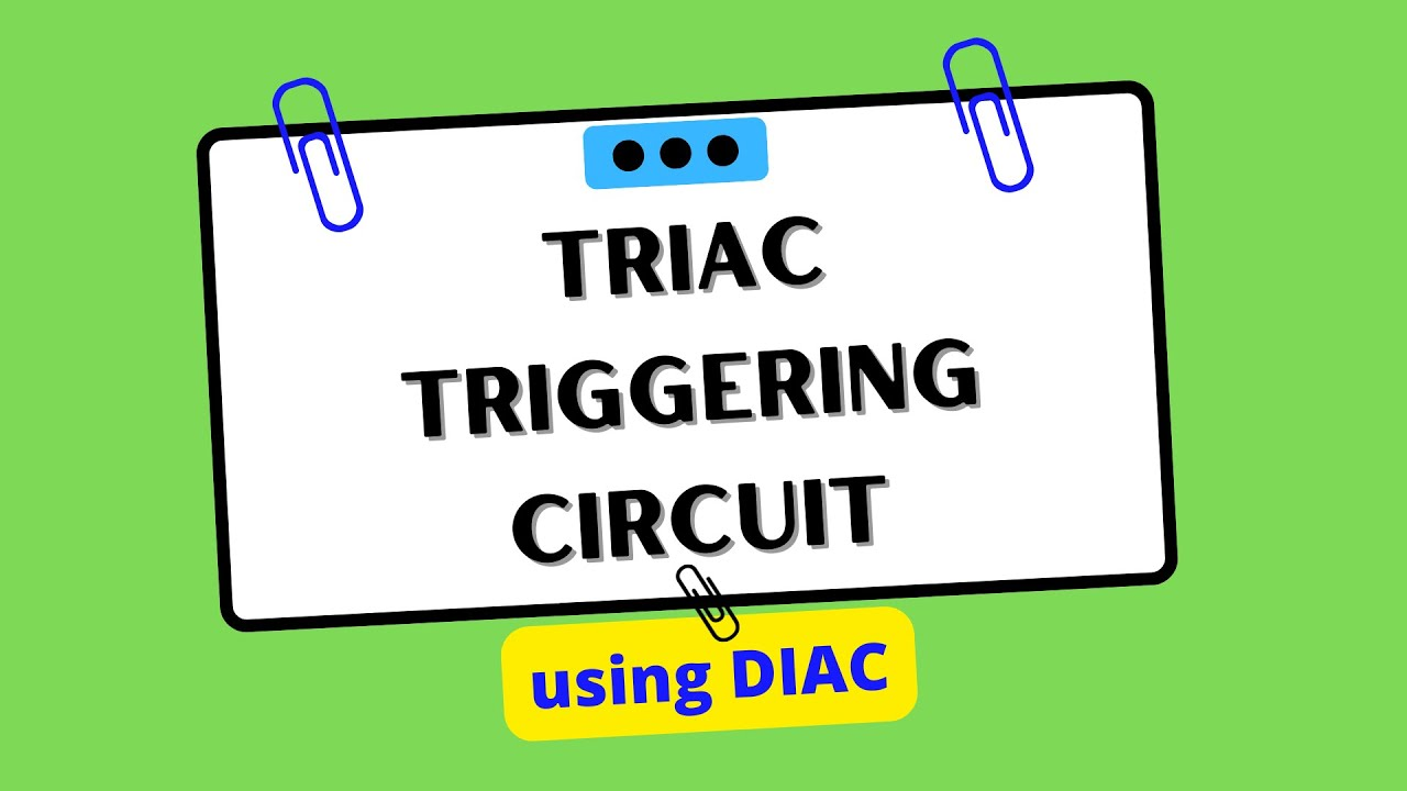 Vfd Circuit Triac Free Wiring Diagram For You On Off Touch Switch Triggering Using Diac Youtube Rh Com Dimmer