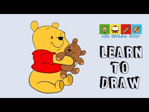 How to draw baby pooh bear
