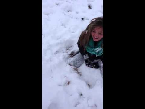 Girl Peeing In Snow