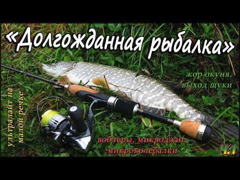 """""""Долгожданная рыбалка"""" - жор окуня, выход щуки, с лёгким спиннингом на малой реке осенью - Ч.1"""