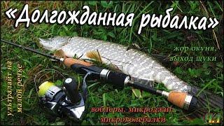 """Жор окуня, выход щуки, с лёгким спиннингом на малой реке осенью - """"Долгожданная рыбалка"""" - Ч.1"""