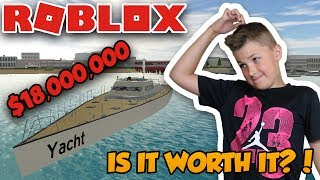 TESTING YACHT in ROBLOX VEHICLE SIMULATOR | IS IT WORTH $18,000,000? | DRAG RACES | CAR STUNTS