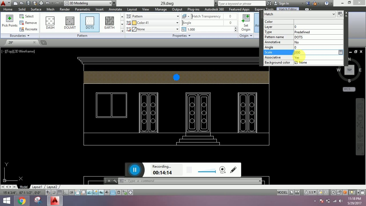 Front Elevation Design In Autocad : How to make front elevation of a building house in autocad