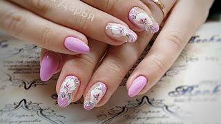 простой и быстрый дизайн ногтей. Весенний дизайн ногтей. Многослойные цветы