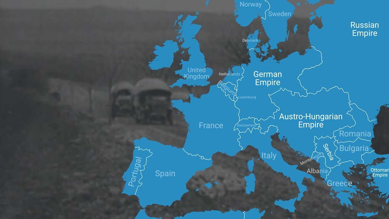 Pre Wwi World Map.Animated Map Shows How World War I Changed Europe S Borders Youtube