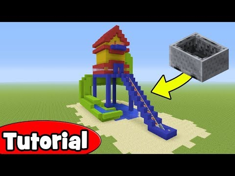 Minecraft Tutorial: How To Make A Roller Coaster Waterslide House