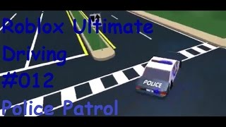 Roblox: Ultimate Driving | Police Patrol #012 | Two shot at once | [Huski/English]