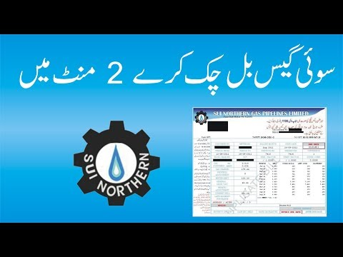 How to check Sngpl Sui gas bill online urdu