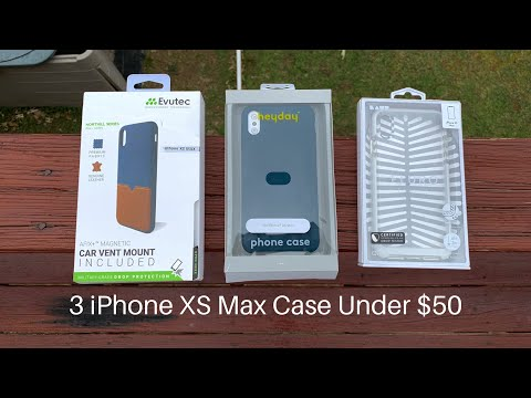 Evutec Northhill, Laut Fluor, Heyday iPhone XS Max Case Unboxing/ Review