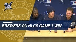 NLCS Gm1: Counsell, Brewers discuss 6-5 win in Game 1