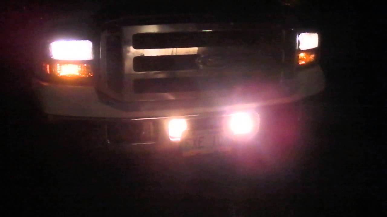 Sylvania Zxe Headlights And Fog Lights F350 Youtube