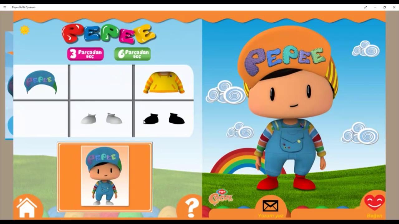 Pepee Giydirme Boyama Oyunu Pepee Dress Up And Paint Game Youtube