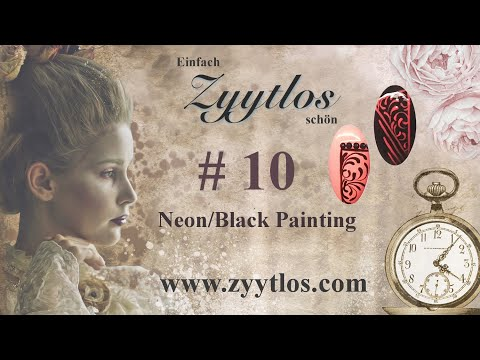 Zyytlos Nail Art Tutorial # 10 - Neon/Black Painting thumbnail