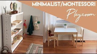 Minimalist / Montessori Inspired Playroom Tour