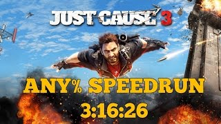 Just Cause 3 Any% Speedrun PB @3:16:26/2:55:11 w/o loads