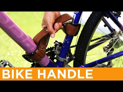 Leather Bike Frame Handle