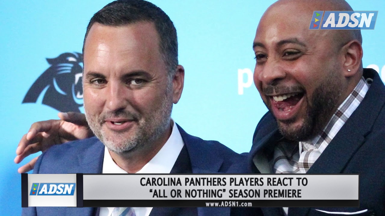 online retailer c9241 25c86 Carolina Panthers roll out the blue carpet for premiere of
