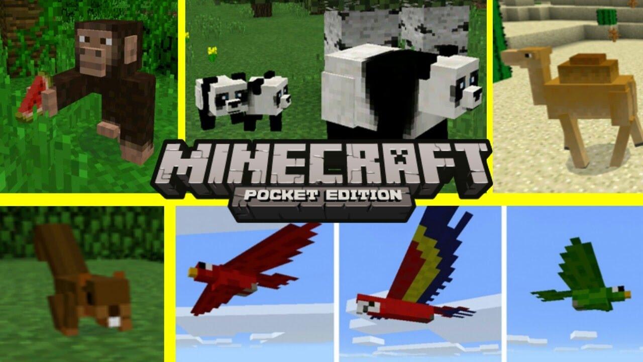 novos animais no minecraft pe 1 0 oficial novos mobs minecraft