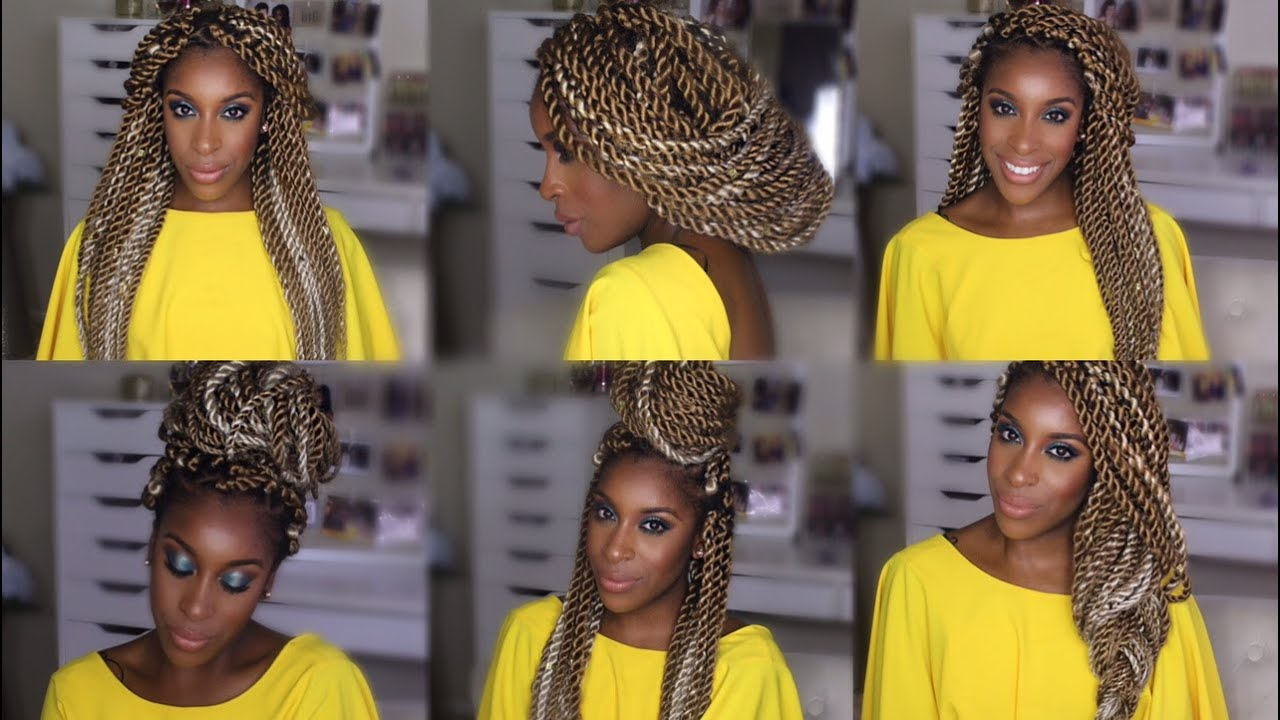 MarleySenegalese Twists Hairstyles  Jackie Aina  YouTube