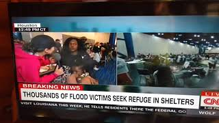 CNN reporter yelled at by angry black woman hurricane harvey