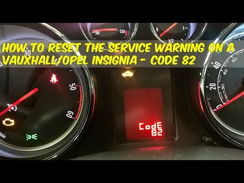 How to reset the service warning in a Opel Vauxhall Insignia - Code 82