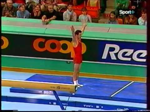 Marius URZICA (ROM) vault - 2004 Swiss Cup
