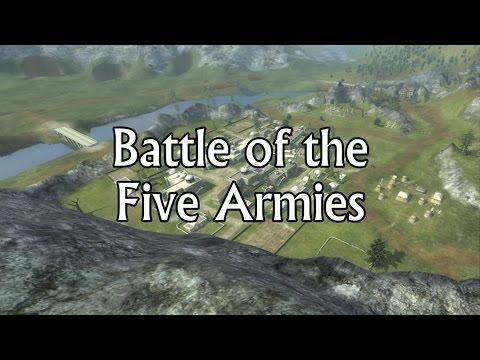 BATALLA DE LOS 5 EJERCITOS  - Third Age Total War Gameplay