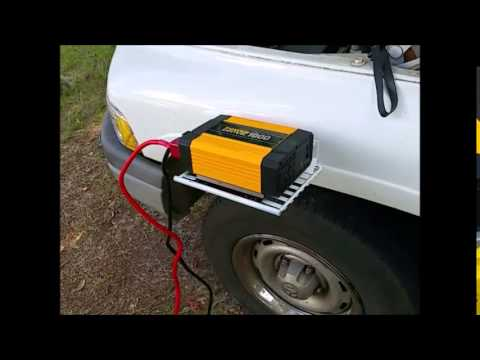 Power Inverter For Truck >> Mounting My 1000 Watt Inverter To The Side Of The Truck Youtube