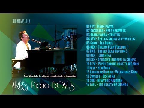 Piano BGMs of A.R.Rahman | Keyboard instruments | Hummingjays.com