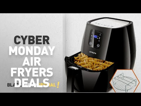 cyber-monday-best-air-fryers-deals-review:-air-fryer-touchscreen-by-cozyna-(3.7qt)-with-2-airfryer