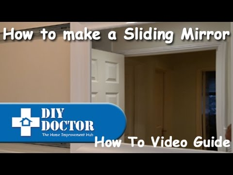 How To Make A Sliding Bathroom Mirror   YouTube