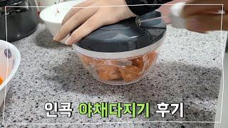 인콕 야채다지기 후기 / 손쉽게 야채다지는법 / Cho…