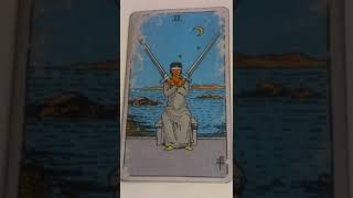 The Two of Swords as Feelings in a Love Reading