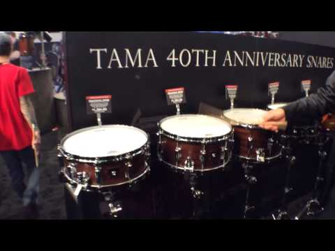2014 Winter NAMM TAMA 40th Anniversary Snare Drums